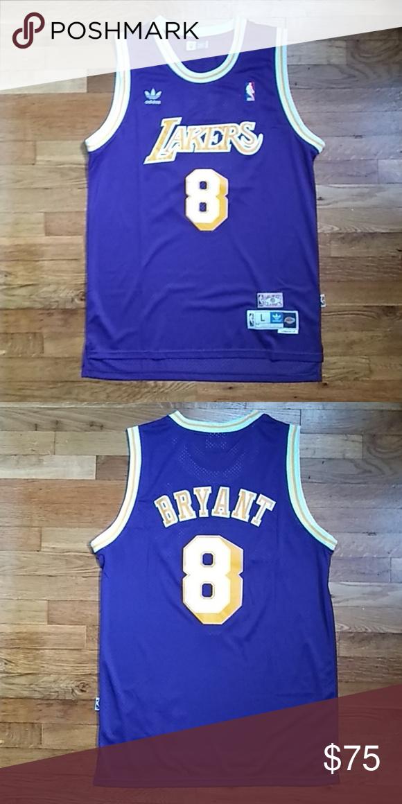 low priced 226b4 06949 Kobe Bryant LA Lakers Retro Adidas Jersey Large Like and ...