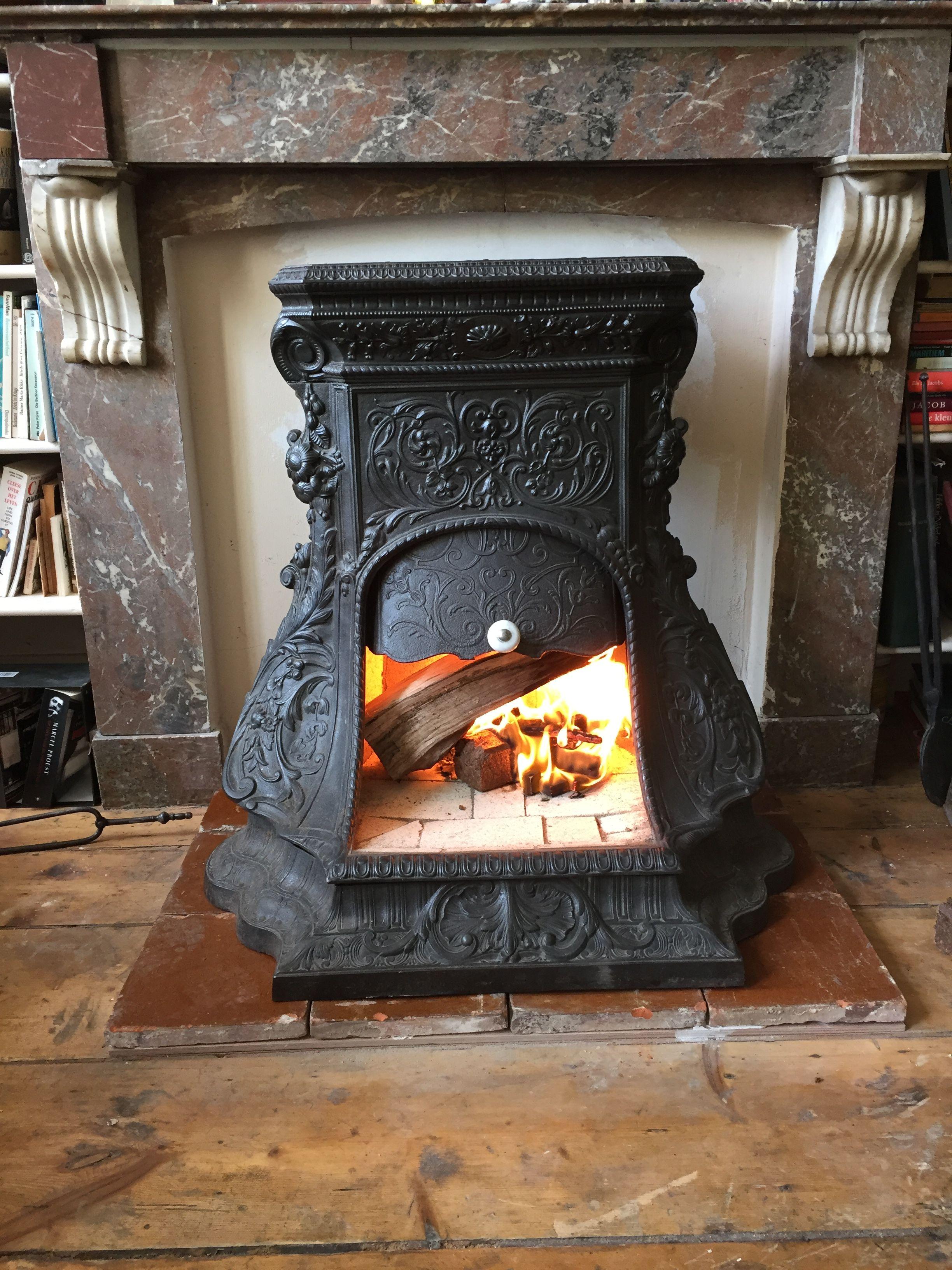 Godin 1870 Wood Stove Fireplace Vintage Stoves Fireplace