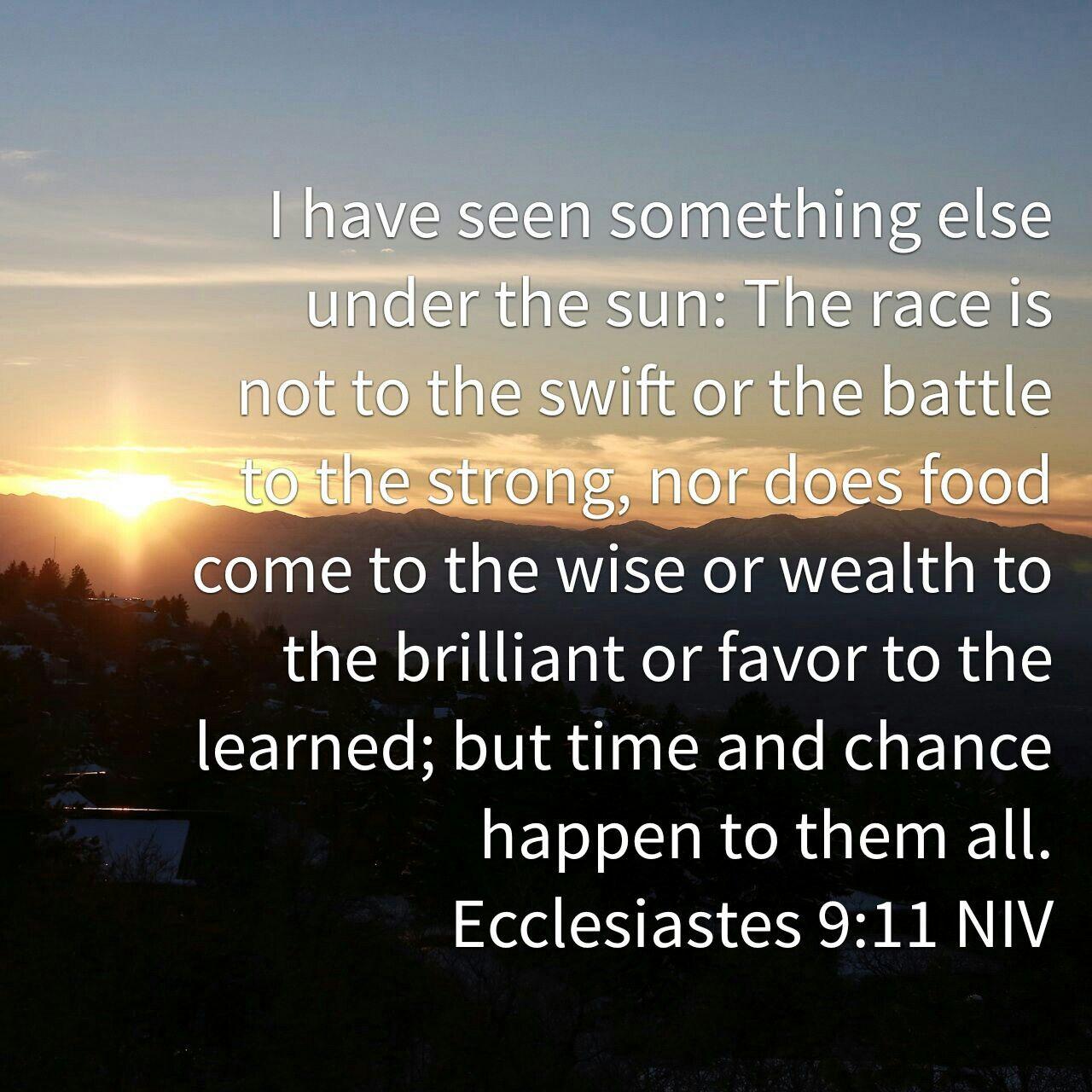 Image result for Eccl. 9:11