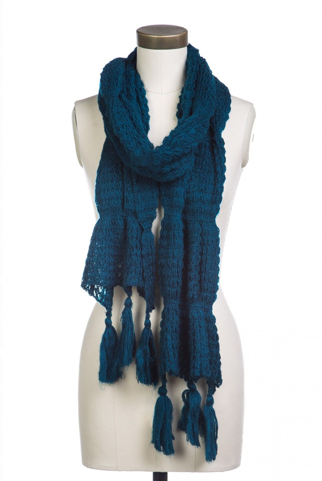 Type 3 Teal Texture Scarf - New Arrivals