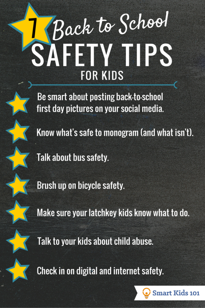 7 Must Know Back To School Safety Tips For Kids School Safety Safety Tips Back To School