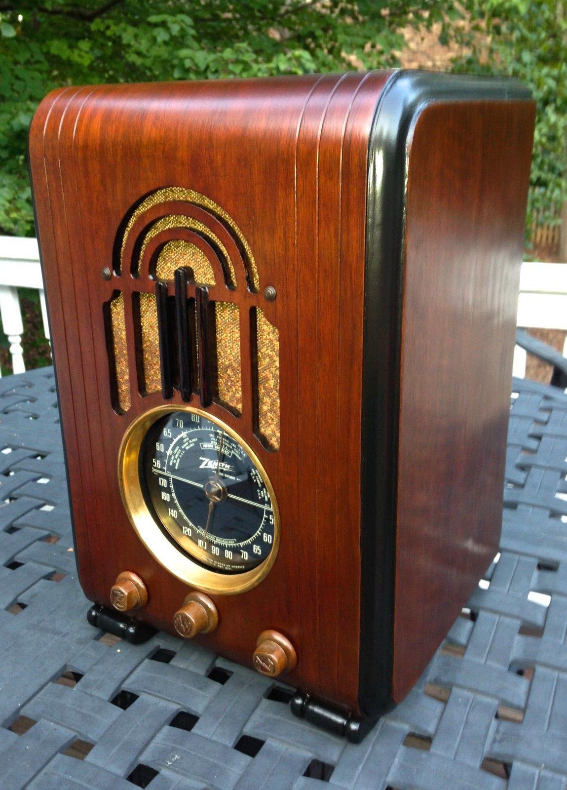 Zenith 5s228 Black Dial Tombstone 1938 Antique Radio Vintage Radio Retro Radios