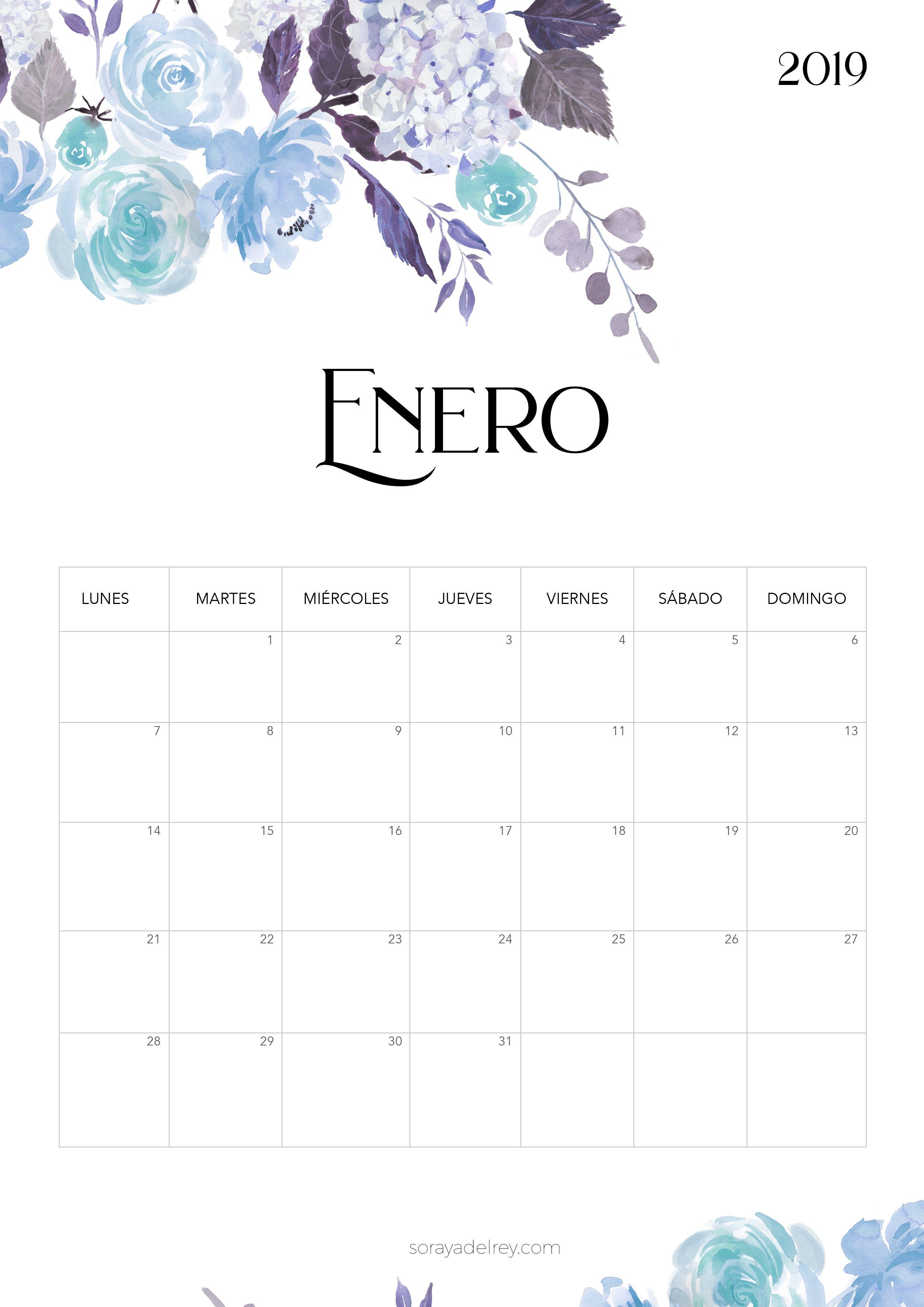 Calendario Para Imprimir 2018 2019 Calendario Pinterest