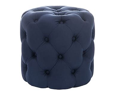 "Puf ""Hasson Blue"", Ø 45, wys. 44 cm"