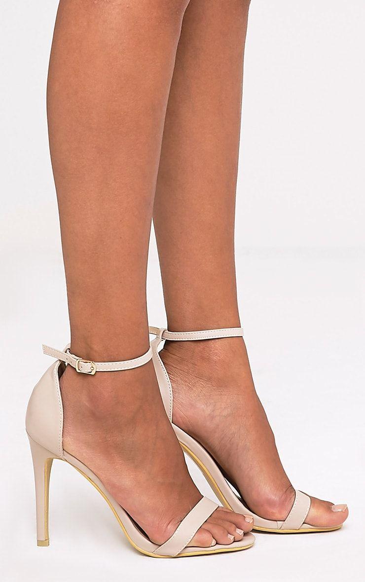 PRETTYLITTLETHING Strap Clear Heels eAv2QN