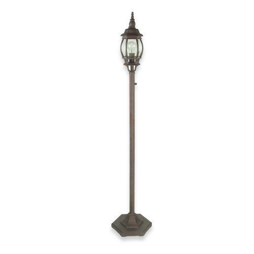 Royce Lighting RL9196WP Outdoor Portable Post Lantern Weathered Patina With  Clear Globe By Royce Lighting.