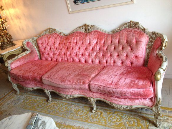 Vintage French provincial living room set. Includes large couch ...
