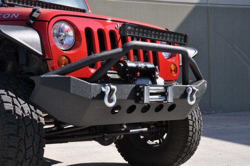 DV8 Off-Road - DV8 Off-Road  FS-6 Steel Mid-Width Front Bumper - Jeep Wrangler JK