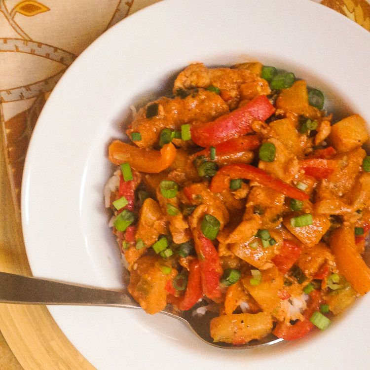 Thai Pork And Pineapple Curry