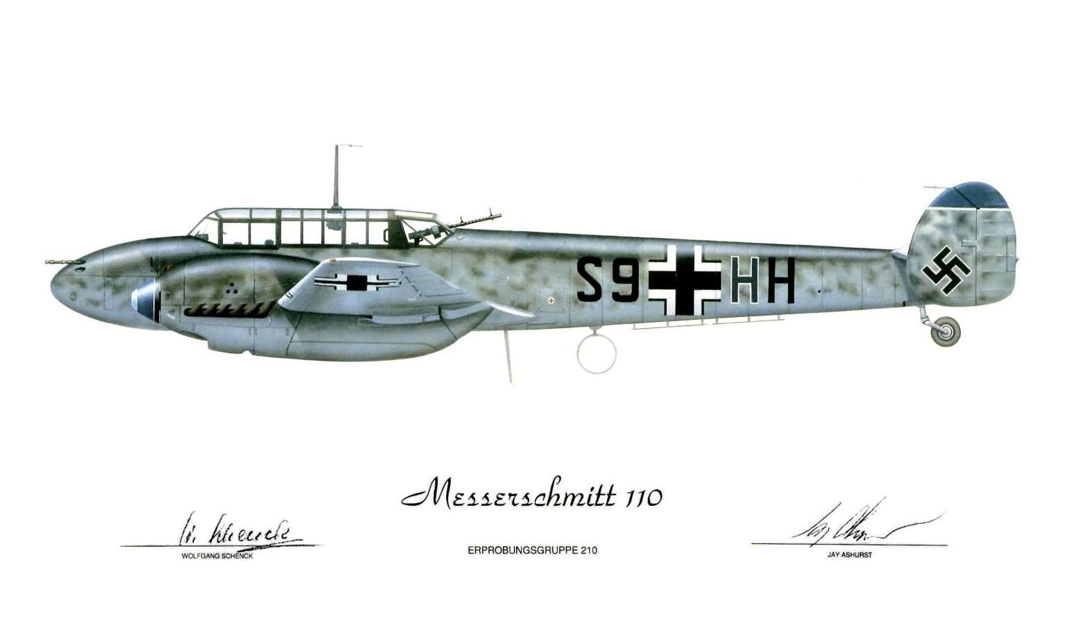 Messerschmitt Bf 110 @Jay Ashurst Art | Blog | Pinterest | Dibujo de ...