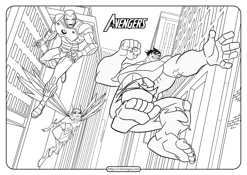 Printable The Avengers Coloring Book Avengers Coloring Pages Superhero Printables Avengers Coloring