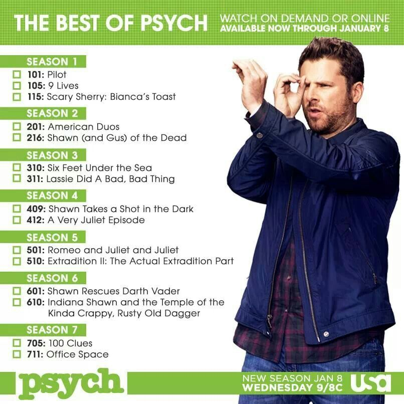 Psych ... pretty darn acurite ^^^ missing the spelling bee that's one of the best ones and office space is really lassie jerky