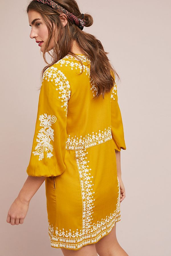 Slide View: 2: Shiloh Embroidered Tunic Dress