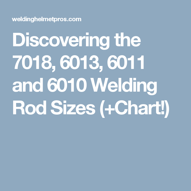 Discovering The 7018 6013 6011 And 6010 Welding Rod Sizes Chart Maurice Welding Rods Welding Size Chart