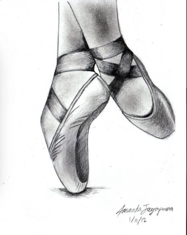 Ballerina shoes drawing, Ballet shoes