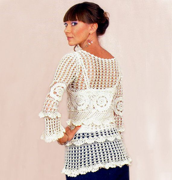 Sexy crochet tunic pattern, autumn-spring tunic crochet TUTORIAL ...