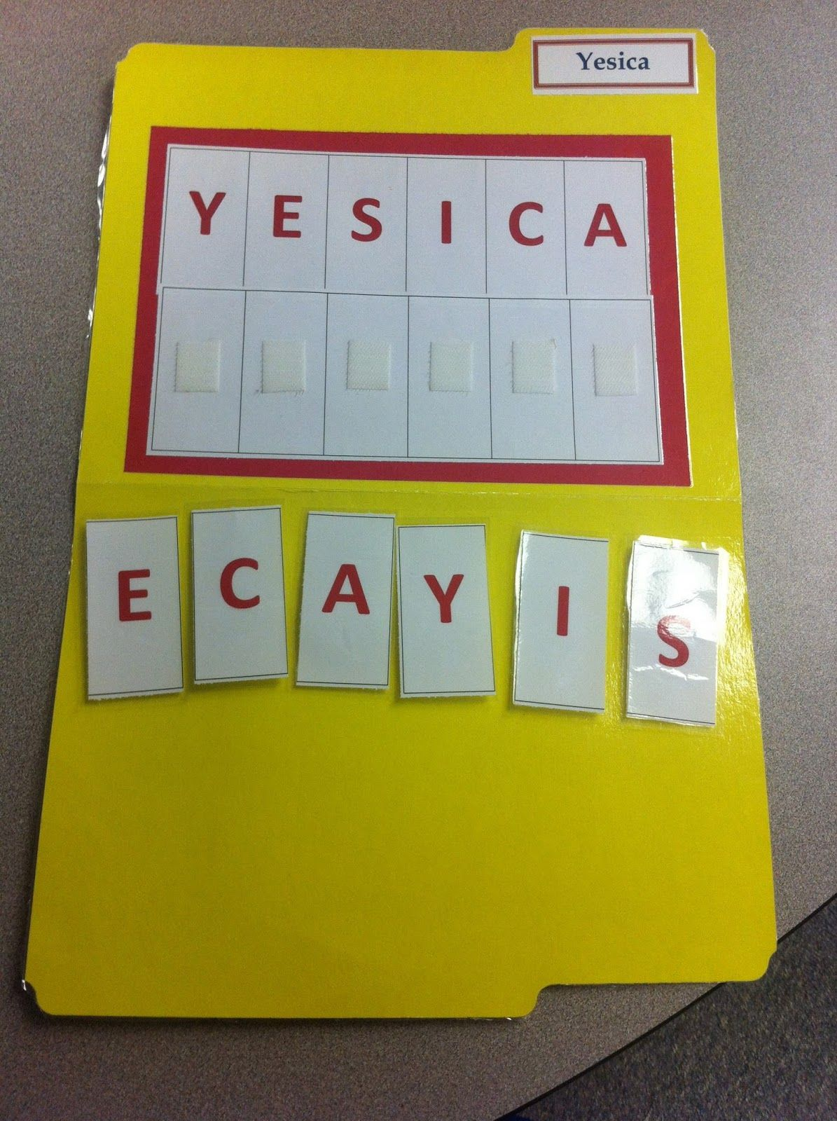 Spell Your Name- File Folder Activity | Self contained | Pinterest ...