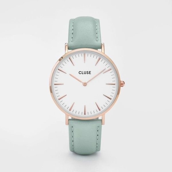 Cluse La Boheme Rose Gold Mint Watch 88 liked on Polyvore