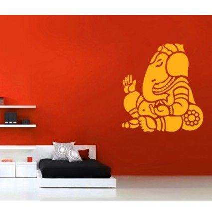 A beautiful Ganesha wall decal to adorn the walls of your home. Gift this or use this in your own home.