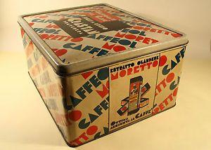 GRANDE SCATOLA DI LATTA CAFFEOL MORETTO Anni '30   eBay