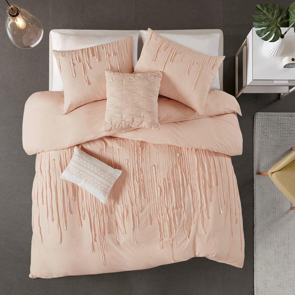 Photo of Paloma 5 Piece Cotton Comforter Set, Blush, King/Cal King