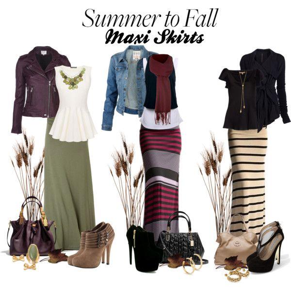 Summer to Fall: Maxi Skirts | Pinterest