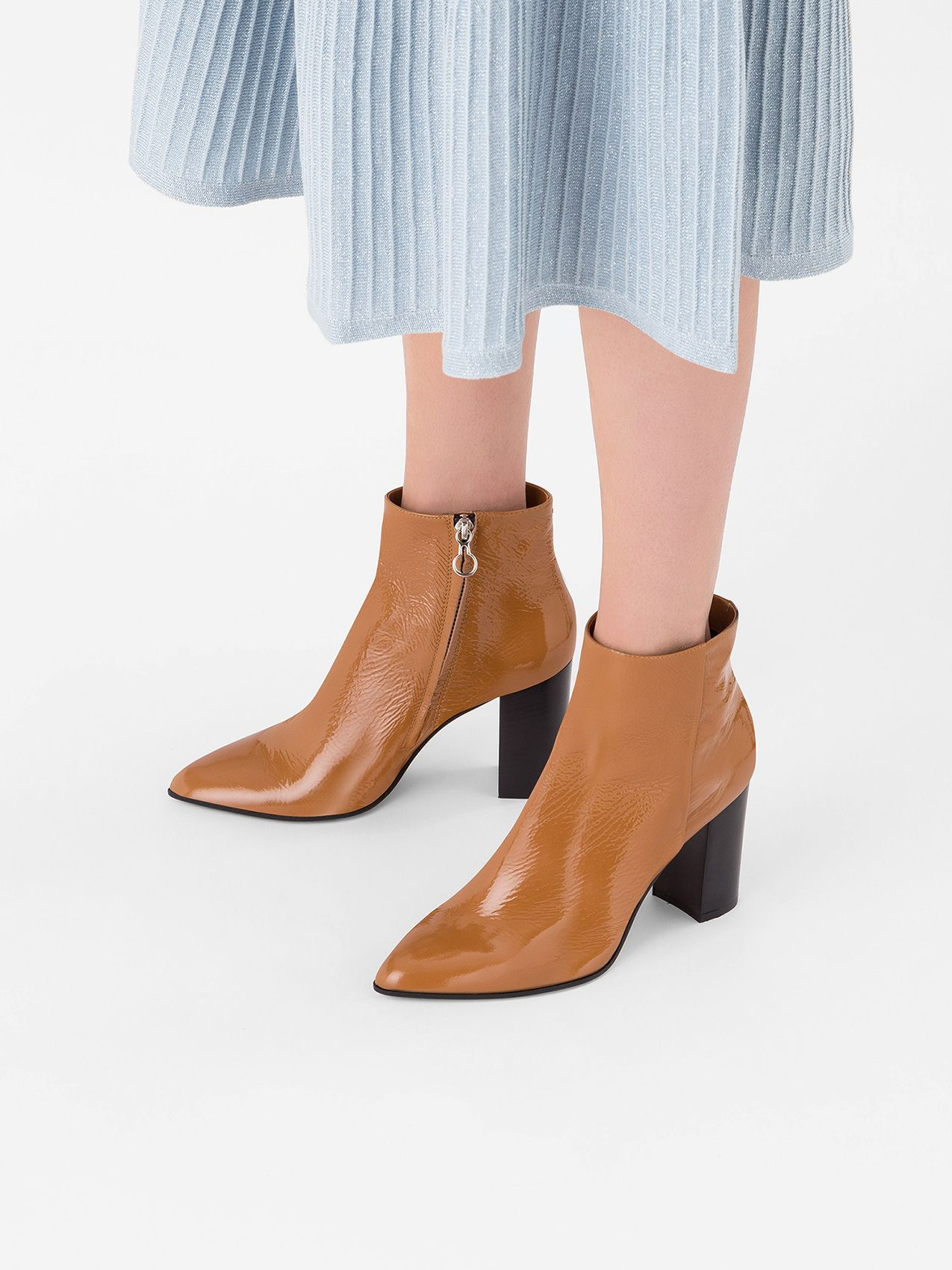 women ankle boots - peanut butter