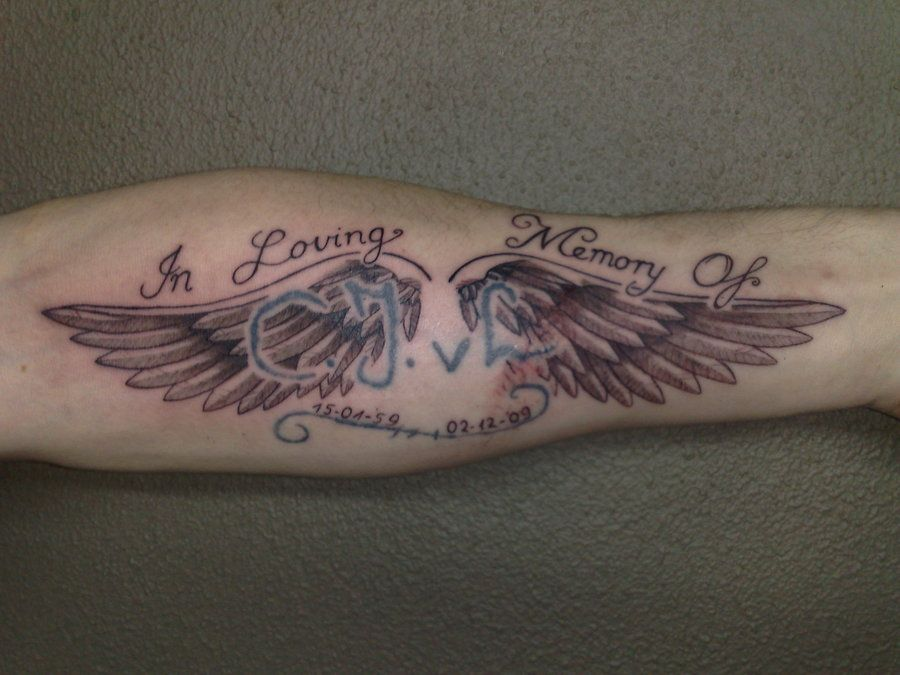a3078428e Infinity Name Tattoos with Angel | angel wings tattoo by campfens ...