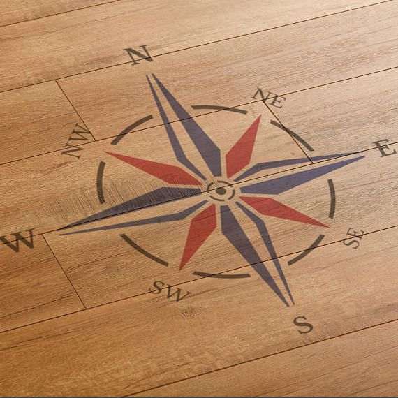 Nautical Compass Rose Stencil Large Reusable Compass Stencil By Craftstar Rose Stencil Compass Rose Nautical Compass