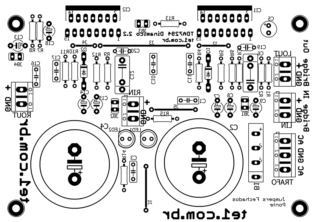 Amplificador Com Tda7294 Brutus Ponte Estereo Silk Electronico 6n2p Tube Pretone Low Volt Cost Circuit Diagram Super Circuits Som Layout Bridge Licence