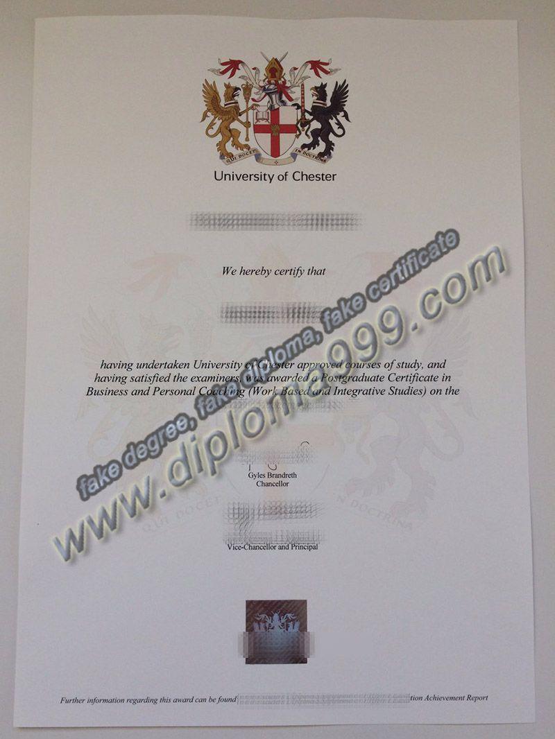 Fake University Of Chester Diploma Sample Diploma Online Master Degree Programs Diploma