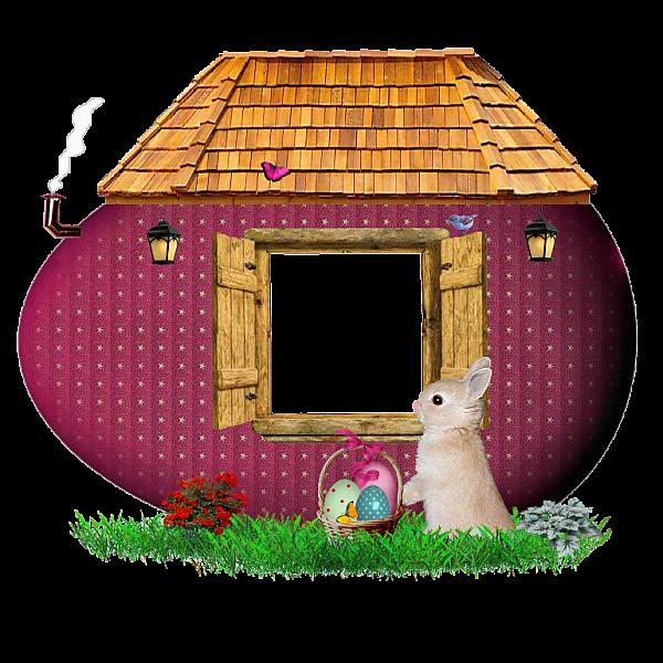 Easter Bunny casa de madeira