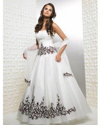 9f86e3b84 Vestidos de 15 años modernos de color Blanco y Negro