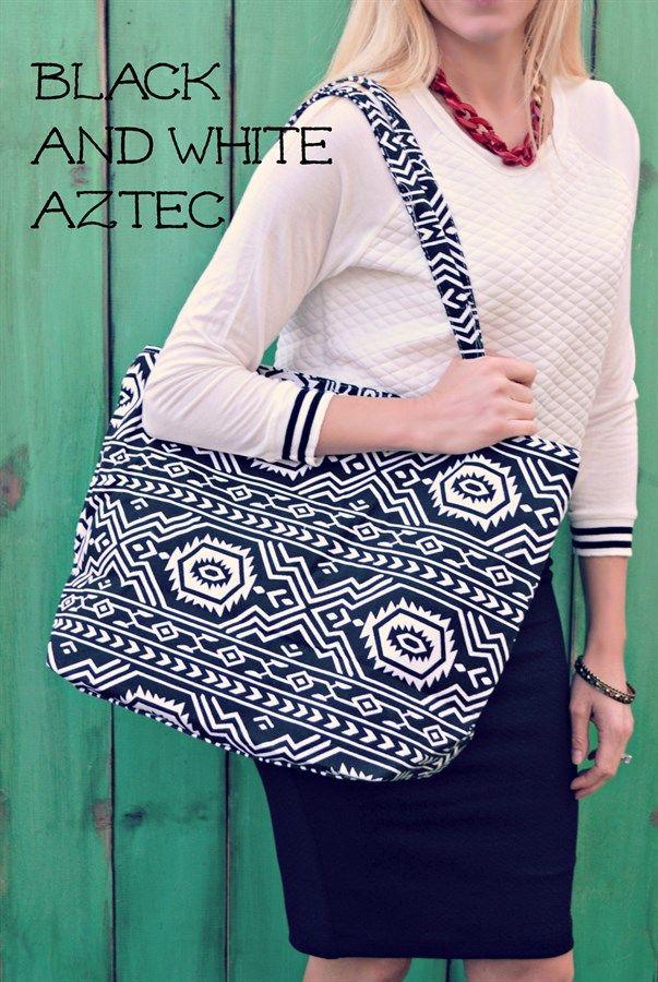 Black and White Aztec Bag $8.99