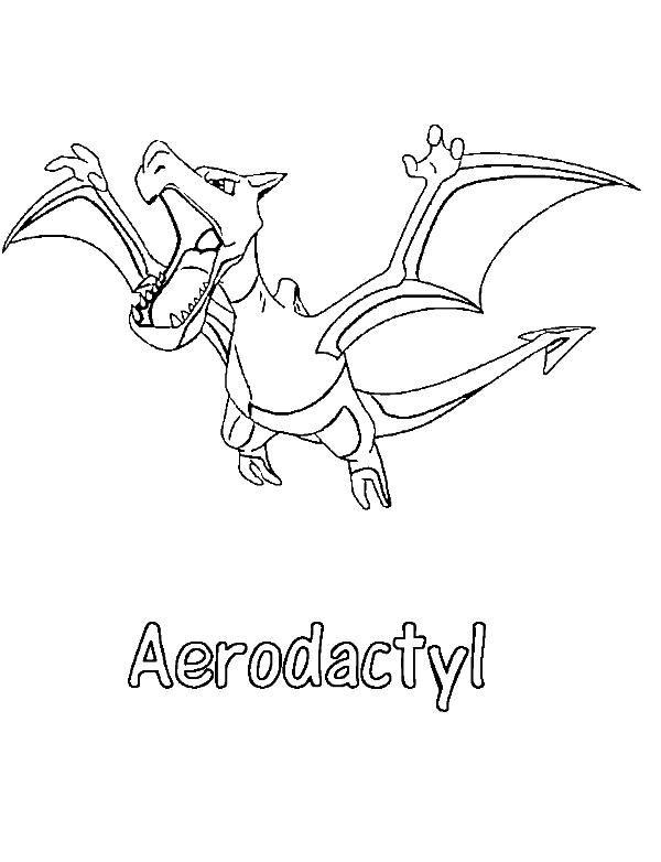 Aerodactyl Pokemon Coloring Page (With images) | Pokemon ...