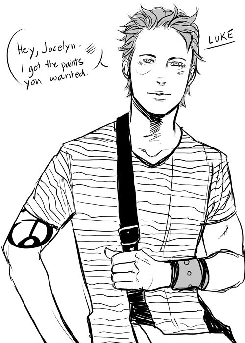 Damn it Luke! You are too cute for words! #Cassandra Jean #Mortal Instruments