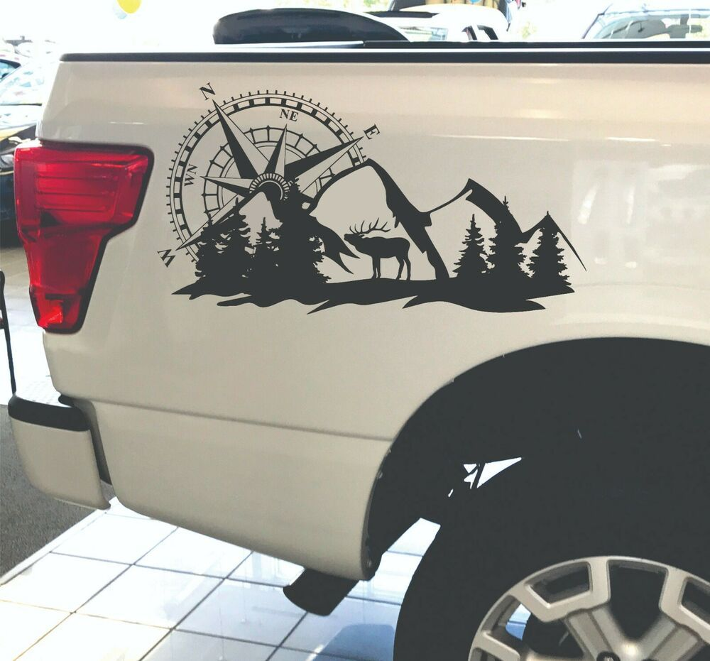 Compass Truck Decals Hunting Edition Graphics Vinyl Stickers Deer Nature 4x4 Increationcompany In 2021 Truck Graphics Truck Decals Car Vinyl Graphics [ 931 x 1000 Pixel ]