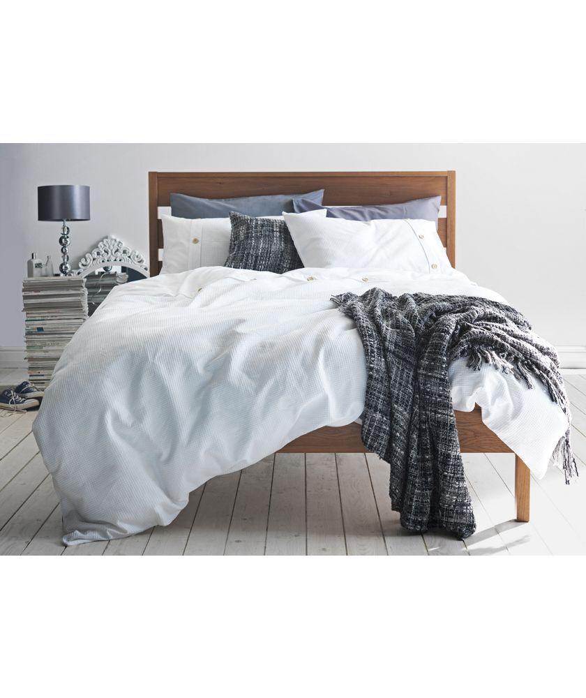 buy heart of house wyatt waffle white bedding set superking at rh pinterest co uk
