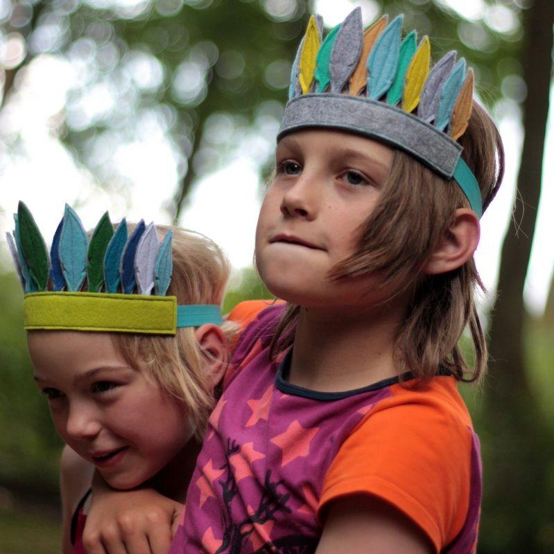Indiánská čelenka Krásný doplněk pro děti ať už na karneval e84af323ec