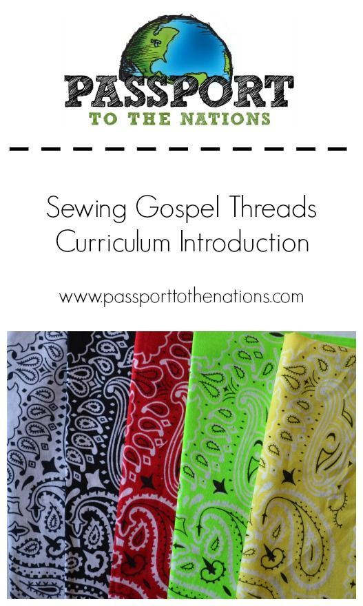 """Sewing Gospel Threads"" Curriculum: Introduction - back yard Bible club  idea using gospel - Sewing Gospel Threads"" Curriculum: Introduction - Back Yard Bible"