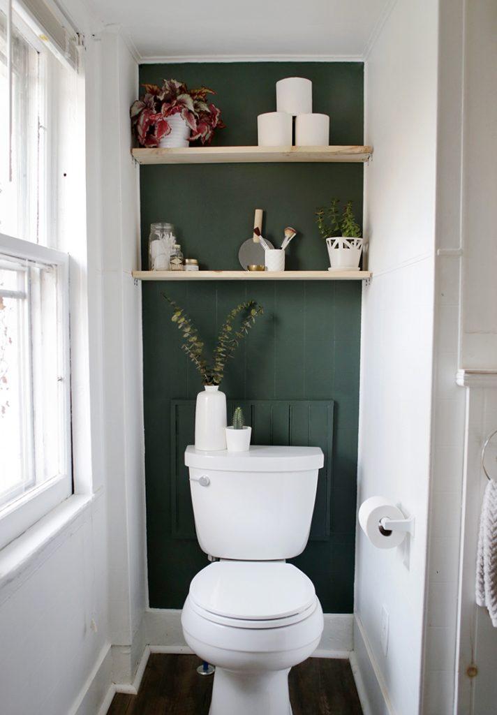 Mini Bathroom Makeover In 2020 Bathroom Makeover Bathroom Inspiration Small Toilet Room