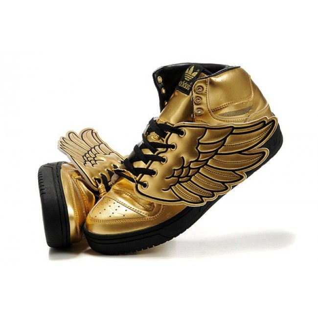 Adidas By Jeremy Scott Wings Golden Shoes