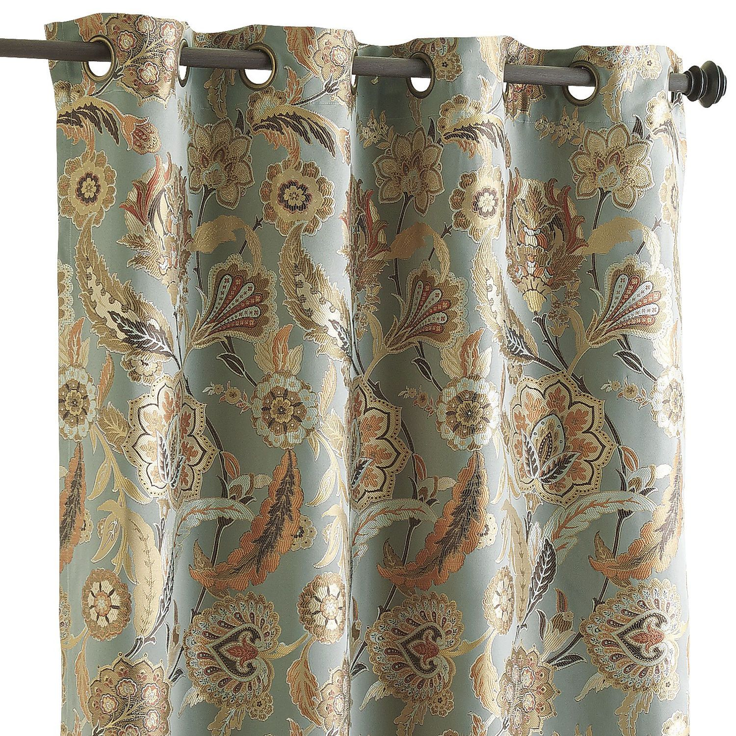 """pier one imports curtains. pearson floral curtain 84"""" 