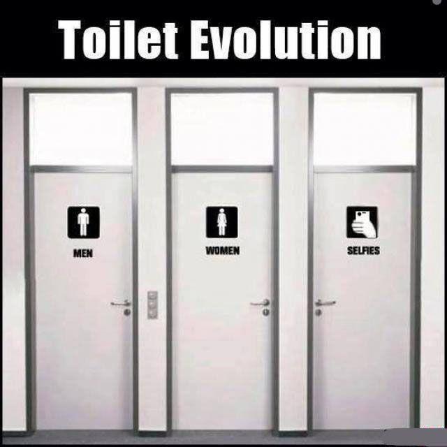 Bathroom Jokes Pictures toilet evolution #bathroom, #funny, #man, #selfie, #toiletpaper