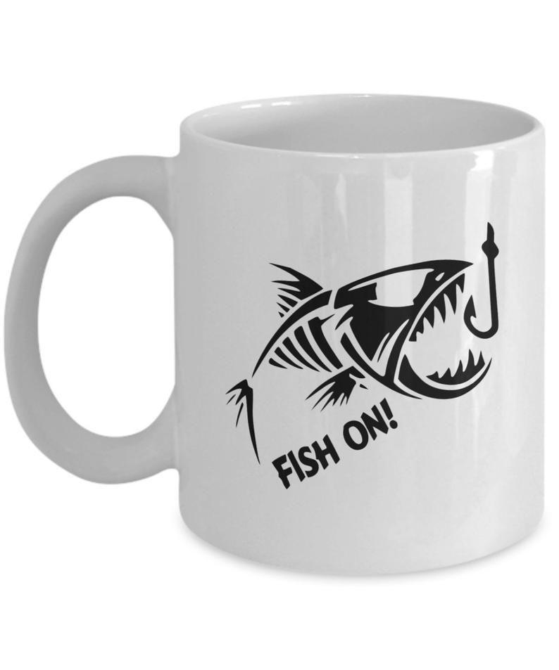 Fathers day gift fishing coffee mug fishermen gift funny