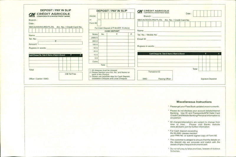 Fake Credit Card Receipt Template Awesome 37 Bank Deposit Slip Templates Examples A Templatelab Receipt Template Templates Card Templates