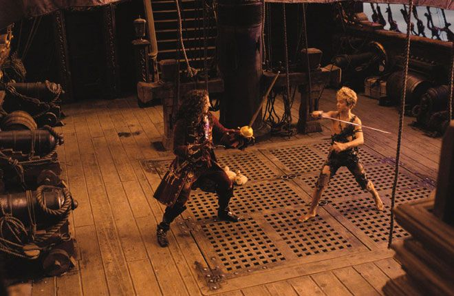 Captain Hook boots by Pendragon in the 2003 movie Peter Pan