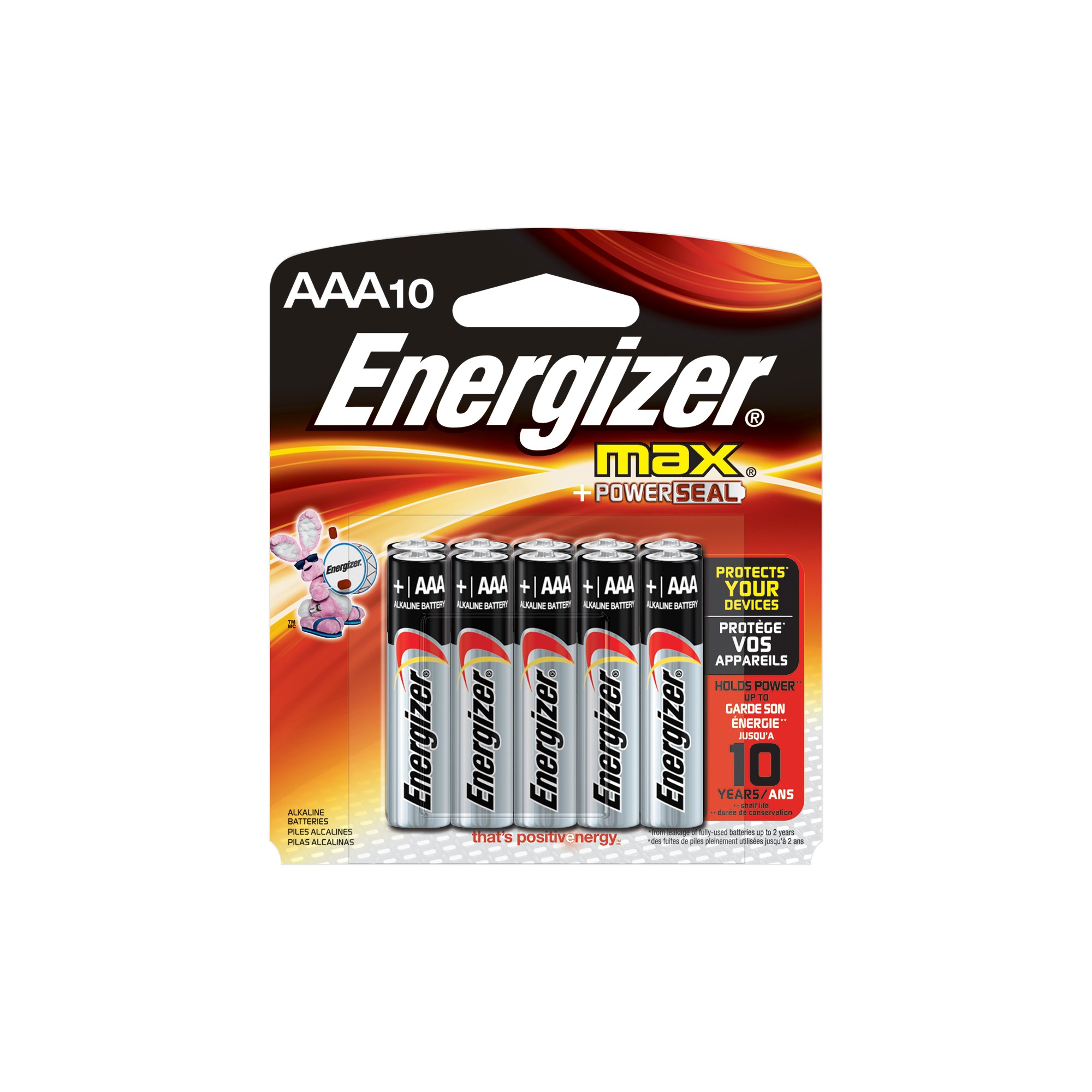 Energizer Max AAA Batteries 10 ct, Silver Alkaline battery