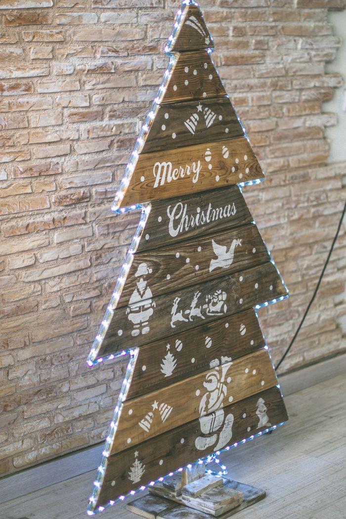 Arbol de navidad palets 25 alaba pinterest palets navidad y madera - Arboles de navidad de madera ...