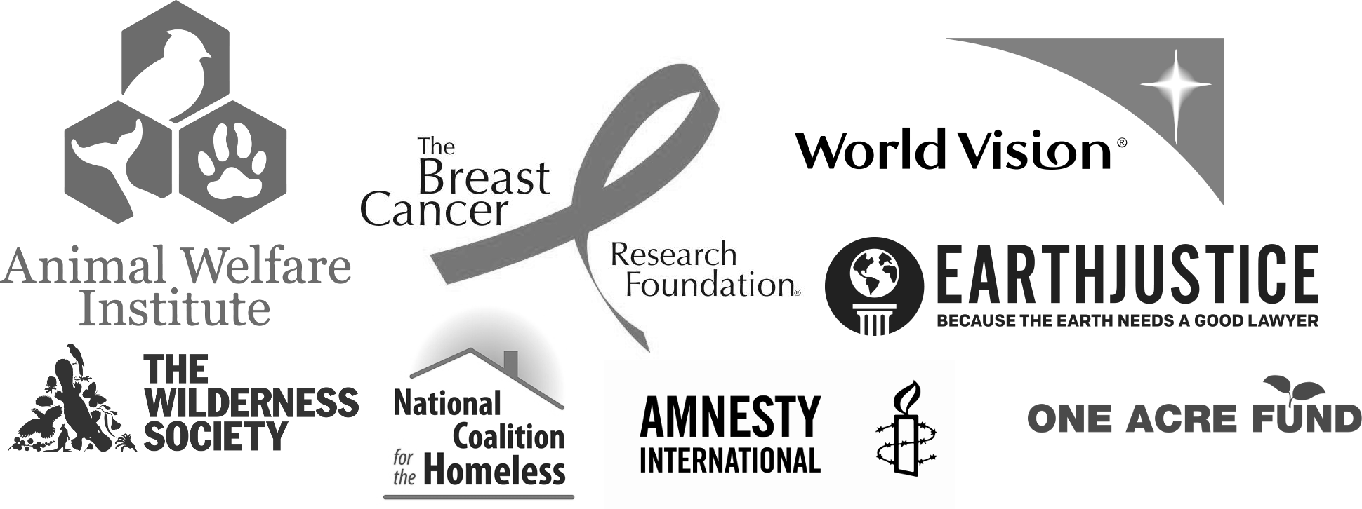 Charities we support. We provide free coaching but encourage you contribute to your favorite charity